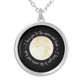 Liebe Sie zum Mond Versilberte Kette