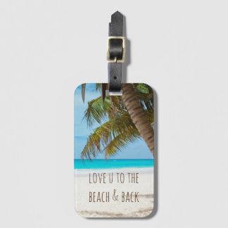 Liebe Sie zum Strand u. zur Rückseite Gepäckanhänger