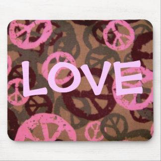 Liebe-Sprichwort-Friedenszeichen/Camouflage Mousepads