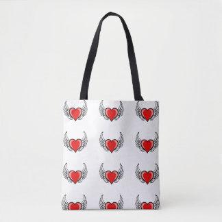 Liebe steigt an tasche