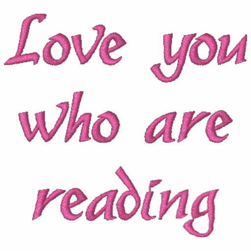 """""""Liebe stickten Sie, die"""" lesen, Shirt"""