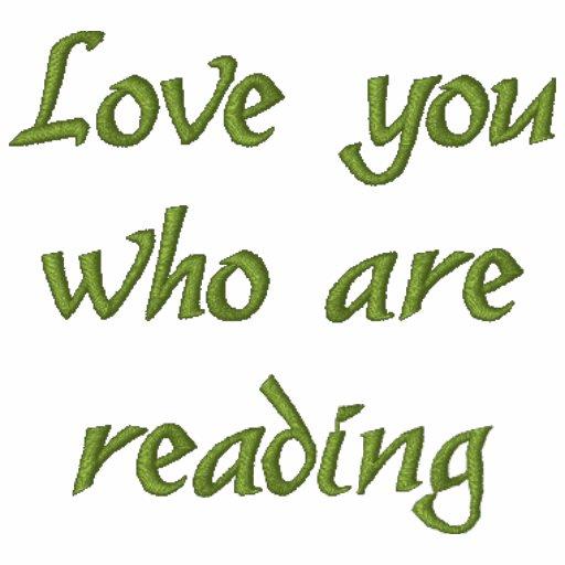 """""""Liebe stickten Sie, die"""" lesen, T - Shirt"""