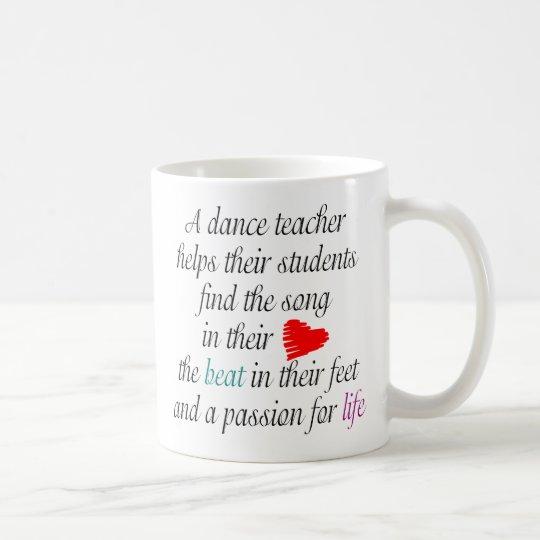 Liebe, Tanz-Tasse zu unterrichten Kaffeetasse