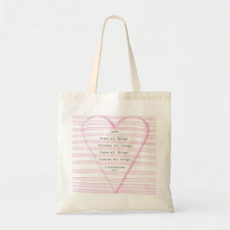 Liebe-Tasche Budget Stoffbeutel