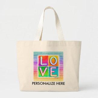 Liebe-Taschen-Taschen Jumbo Stoffbeutel
