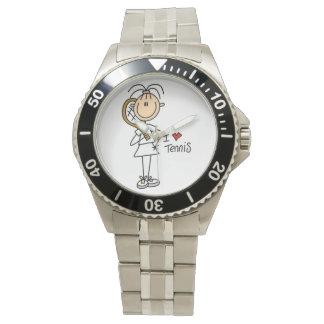Liebe-Tennis der Frau-I Uhren