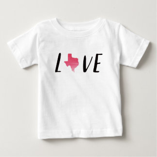 Liebe-Texas rosa Watercolor-Kleinkind-Shirt Baby T-shirt