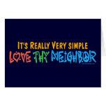Liebe Thy Nachbar - Herz, Friedenszeichen Karten