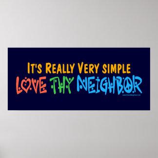Liebe Thy Nachbar - Herz Friedenszeichen