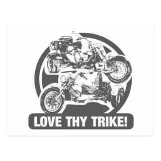 Liebe thy trike - Motorrad Postkarte