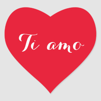 Liebe Tiamos I Sie im italienischen roten Herz-Aufkleber