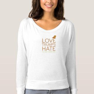Liebe-Trumpf-Hass-T-Stück T-shirt