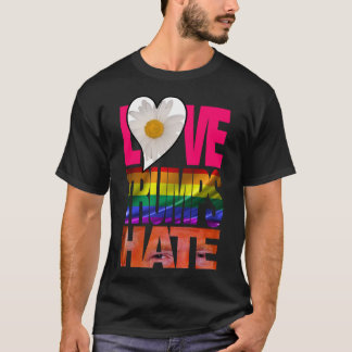 Liebe-Trümpfe hassen dunklen T - Shirt