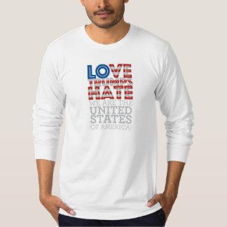 Liebe-Trümpfe hassen lange Hülse T-Shirt