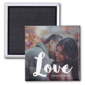 Liebe-Typografie-Foto und Namen-Magnet