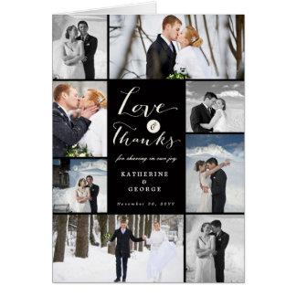 Liebe-u. Dank-Foto-Collagen-Hochzeit danken Ihnen Karte