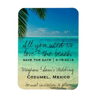 Liebe u. die Strand-Hochzeit retten Magnet