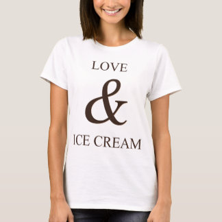 Liebe u. Eiscreme T-Shirt
