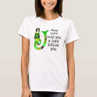 Liebe-u. Glück-Iren-Meerjungfrau T-Shirt