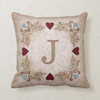 Liebe u. Herz-personalisiertes romantisches Kissen