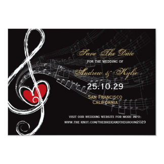 Liebe-u. Musik-Künstler-Foto-Save the Date Karte