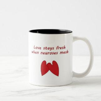 Liebe- u. Neurosen-Tasse Zweifarbige Tasse