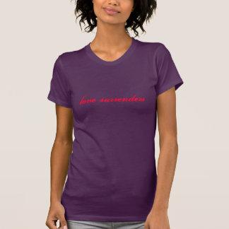 Liebe übergibt (rot auf Aubergine) T-Shirt
