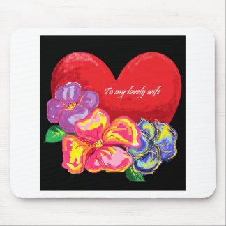 Liebe und Blumen Mauspads