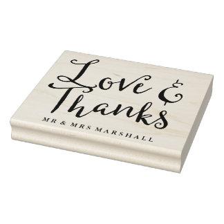 Liebe und Dank, die Wedding sind Gummistempel