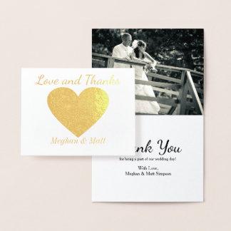 Liebe-und Dank-Herz-Folien-Foto-Hochzeit danken Folienkarte