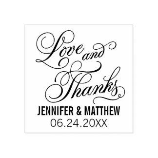 Liebe und Dank Wedding | Gummistempel