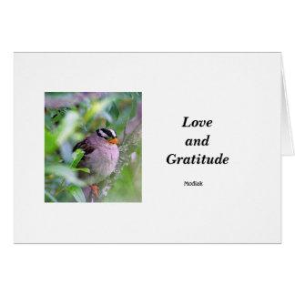 Liebe und Dankbarkeit Karte