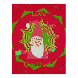 Liebe-und Dankbarkeits-Sankt Hohoho! Postkarte