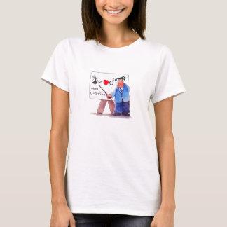 Liebe-und der Hanes der Friedensgleichungs-Frauen T-Shirt