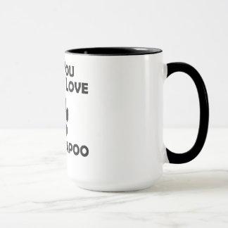 Liebe und ein Cockapoo Tasse