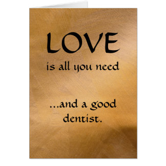 Liebe und ein guter Zahnarzt Karte
