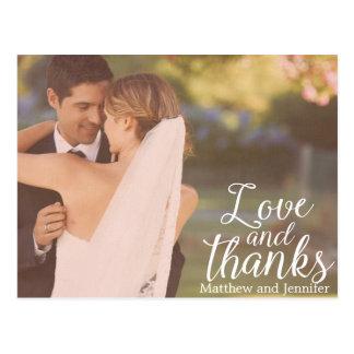 Liebe-und Foto-Hochzeit des Dank-  danken Ihnen Postkarte