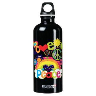 Liebe und Friedensbaby Aluminiumwasserflasche