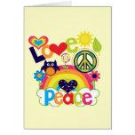 Liebe und Friedensbaby Grußkarten