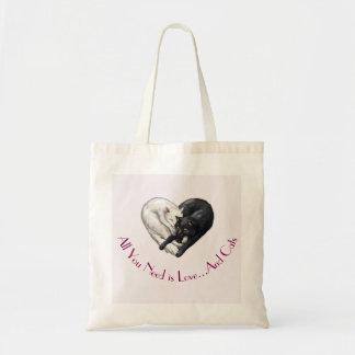 """""""Liebe-und Katzen-"""" Taschen-Tasche Tragetasche"""