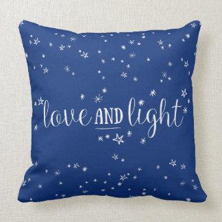 Liebe-und Licht-Stern-Feiertagthrow-Kissen Kissen