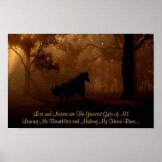 Liebe und Natur das bestste Geschenke ~ Pferd Poster