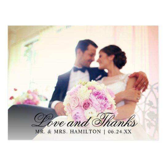 Liebe und schwarzes klassisches Eleganz-Foto des Postkarte