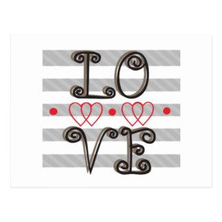 Liebe-Unendlichkeit setzt Zeit Postkarte