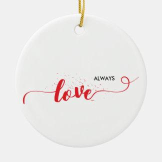 Liebe-Valentinsgruß-Wirbel Keramik Ornament