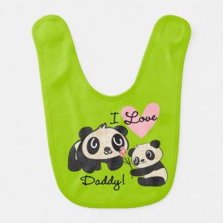 Liebe-Vati-Schellfisch der Panda-I Lätzchen