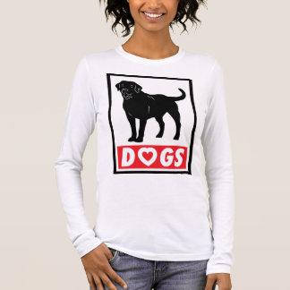 LIEBE VERFOLGT langen Hülsen-Frauen-T - Shirt