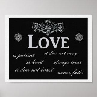 Liebe versagt nie --- Kunstdruck Poster