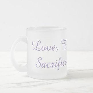 Liebe, Vertrauen, Service, Opfer, Disziplin-Tasse Mattglastasse