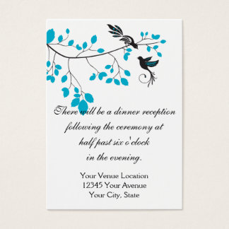 Liebe-Vögel blau Visitenkarte